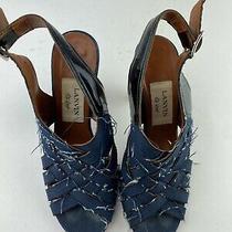Lanvin Denim Strappy High Heel Sandals Size 6 Photo
