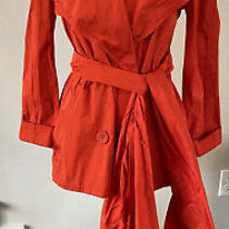 Lanvin Ete 2004 Red Rain Coat Double Breasted Size 38 Photo
