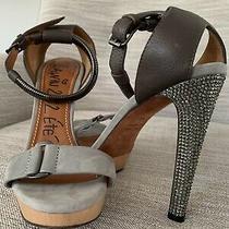Lanvin Ete Studded Heel Sandals Pump - Size 38 Photo