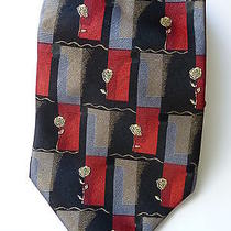 Lanvin France Rose Flower Silk Tie  Photo