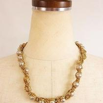 Lanvin Gold Ribbon Necklace Free Shipping World Wide Photo