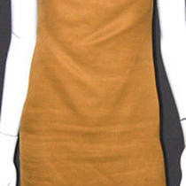Lanvin Golden Yellow Structured Silk Backless Shift Dress 36 Photo
