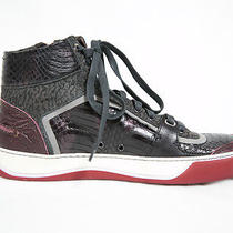 Lanvin Gray and Red Basketball Sneakers Size 5 Nwob Photo