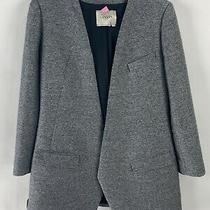 Lanvin Gray Long Blazer Size 8 Photo