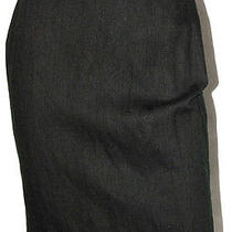 Lanvin Hiver 2011 Dark Green Wool Blend Pencil Skirt 38 Photo