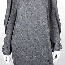 Lanvin Hiver 2011 Gray Cashmere Draped Shoulder Knit Dress M Photo