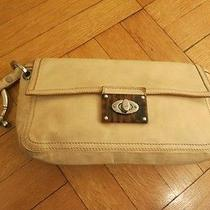 Lanvin Ivory Leather Clutch W/ Jeweled Bracelet Photo
