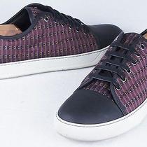 Lanvin  Jacquard Low-Top Sneaker Burgundy (Mens 9uk/10us) Photo