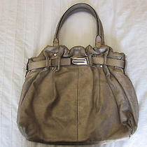 Lanvin 'Kansas' Gold Metallic Leather Luxury High End Leather Tote Bag Photo