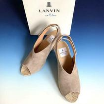 Lanvin  Lanvin on Blue Wedge Sandals 24.0 Cm no.8312 Photo