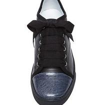 Lanvin Leather Low Top Sneakers-Navy 36 New With Box Photo