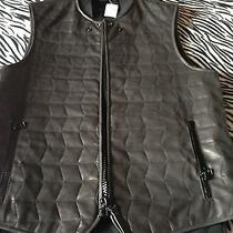 Lanvin Leather 'Runway' Waistcoat. Brand New Sz 52 Made in Italy. Authentic Photo