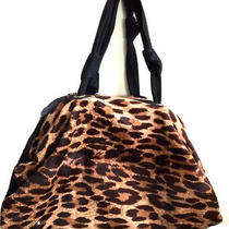 Lanvin Leopard Pony Hair Leather Hanbag Purse Wow Pristine Photo
