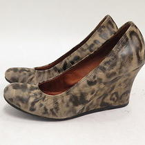 Lanvin Leopard Print Ballerina Wedge Pump Beige Size 37 Photo