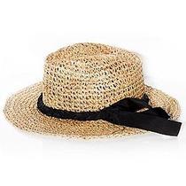 Lanvin Loose Weave Straw Panama Hat Size 20.5 - 21 in (Diameter) Photo