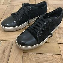 Lanvin Mens Black Suede Cap Toe Sneaker Size 10 / 11 Us Retail 500 Photo
