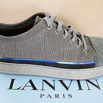 Lanvin Mens- Capped Toe Low Top Sneakers Sz 10 Uk / 11 M Us - Gray Bn Photo