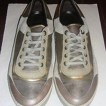 Lanvin Metallic Nylon Low-Top Sneakers Natural/beige Made in Italy Us Size 11 Photo