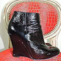 Lanvin Modern Patent Leather Ankle Boot Wedge Size 6.5 2010 Photo