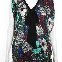 Lanvin Multi-Color Floral Print Sleeveless Blouse Sz M  Photo