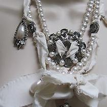 Lanvin  Necklace  White Pearls and  Jewel Embellishments . France. Photo