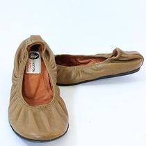 Lanvin Olive Brown Leather Flats Euc Sz 36.5 Photo
