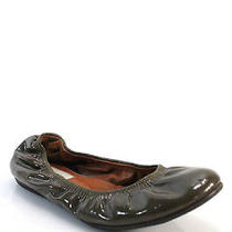 Lanvin Olive Green Patent Leather Ballet Flats Sz 36 6 Photo