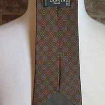 Lanvin Paris 100% Silk Multi Medallion Print Men's Necktie 58