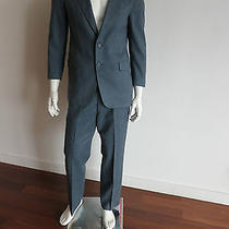 Lanvin Paris 2pc Suit Sz38/r Pants Sz34 Light Blue 100% Wool  No Pleats Photo