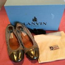 Lanvin Paris Ballet Calfskin Flats Size 36  Photo
