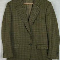 Lanvin Paris Blazer Sport Coat Jacket Plaid Size 52 Made in Italy Photo