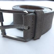 Lanvin Paris Gray Suede Belt - Size 100 / 40 (For Size 37-38 Inch Waist) - Nwot Photo