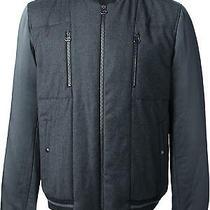 Lanvin Paris Luxury Technical Cashmere Bomber Jacket Photo