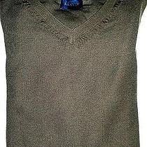 Lanvin Paris Men's Sweater v-Neck Sweater Dark Loose Handknit S/m Italy 875 Photo