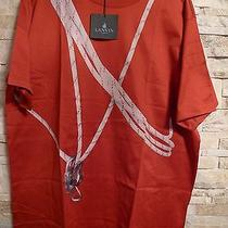 Lanvin Paris Mens Red Tshirt Italy Nwt Sz Xxxl 100% Cotton Photo