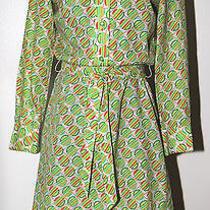 Lanvin Paris New York Vintage Dress Size 8 Washable Colorful Tunic W/belt Photo