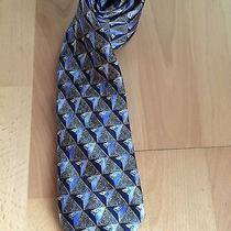 Lanvin Paris Pure Silk Designer Tie Navy Blue Necktie France Photo
