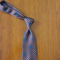 Lanvin Paris Purple Blue Dot Tie Pure 100% Silk Italy Photo