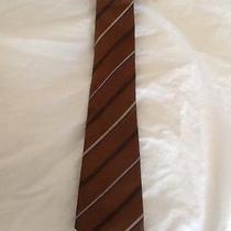 Lanvin Paris Silk Made in France Luxurious Mens Tie Brown Striped Photo