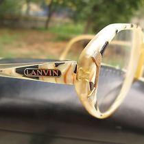 Lanvin Paris Vintage Rare Eyeglasses Optical Frame Mother of Pearl Accents Photo