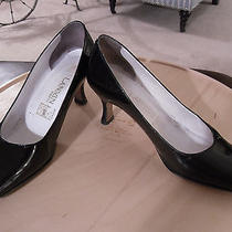 Lanvin Paris Vintage Shoes / Pumps  7.5 / 8  Black Classic Material  Gorgeous Photo