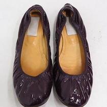 Lanvin Patent Ballet Flat Plum Size 41 Gently Worn Photo