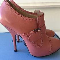 Lanvin Pink Leather Buckled Bootie Size 37 - 3