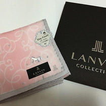 Lanvin Pink  Women's Scarf/hankerchief/mather's Day Gift/made in Japan Photo