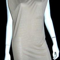 Lanvin Puff-Shoulder Taupe Jersey Sleeveless Dress M Photo