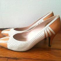 Lanvin Pumpkin and Cream Retro High Heels Pumps Photo