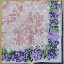 Lanvin Purple Rose See-Through Handkerchief 48cm /daikoku22 Photo