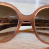 Lanvin Purply Grayish Tan Frame Designer Sunglasses Made in Italy Nwot Photo