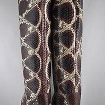 Lanvin Pynthon Snakeskin High Heel Round-Toe Over-the-Knee Boots 6 1/2 3448.0 Photo