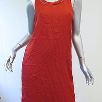 Lanvin Racerback Frayed Edge Tank Dress Red Size Small Gently Worn Photo